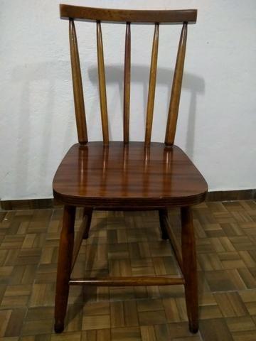 Mesa De Jantar Com 4 Cadeiras Madeira Maciça
