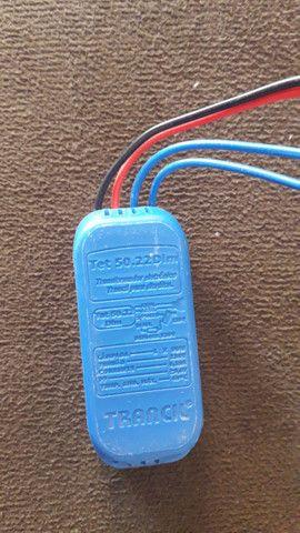 Transformando eletrônico 50w-Dim/ 220v LP. Halogenas 12v - Foto 3