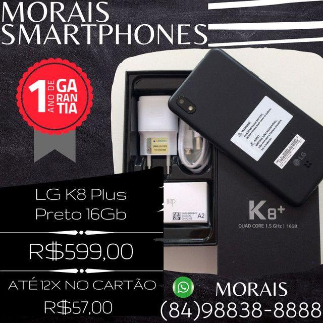 LG K8 Plus 16Gb Preto (LACRADO - QUEM ABRE É VOCÊ COM NOTA FISCAL E GARANTIA)