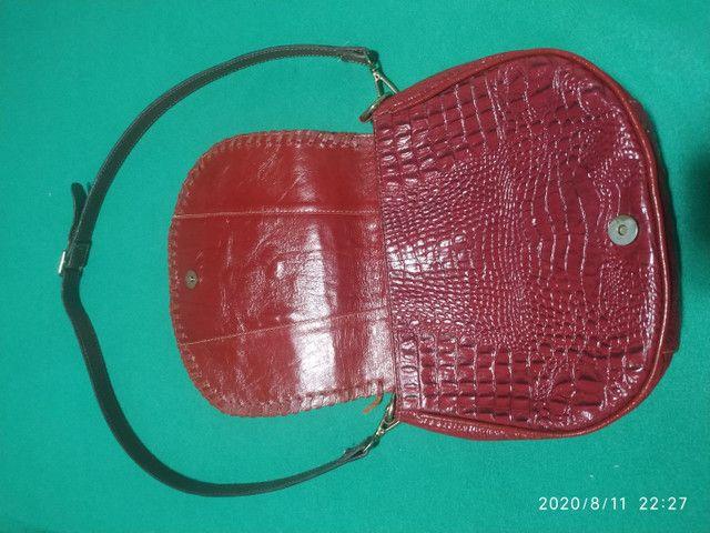 Bolsa em couro croco - Foto 2