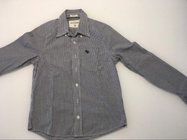 Camisas infantil de botão Abercombrie - tam M - 10 anos - Foto 3