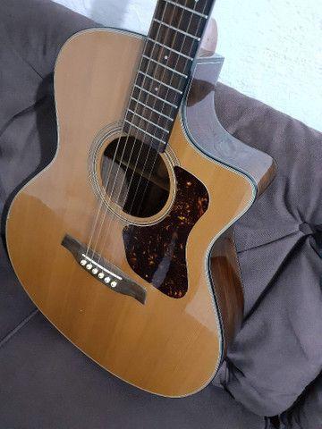 Violão Walden modelo CS 550 CE tampo maciço - Foto 2