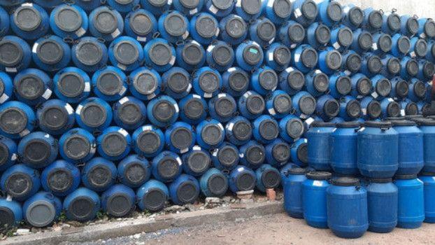 JR Tambores Leiterinha Plástico 50 Litros Tampa Rosqueável - Foto 2