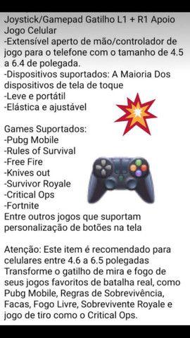 Joystick/Gamepad Gatilho L1 + R1 Apoio Jogo Celular - Foto 2