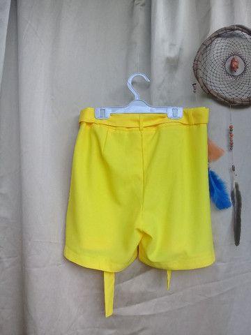 Bermuda amarela de poliéster - Foto 2
