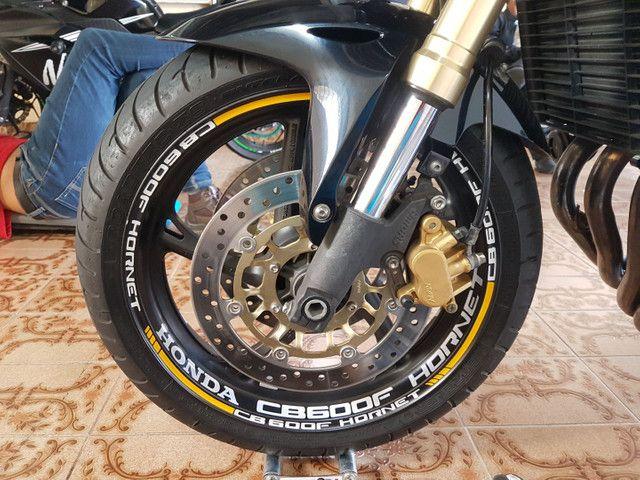 Kit de adesivos e frisos de roda para motos