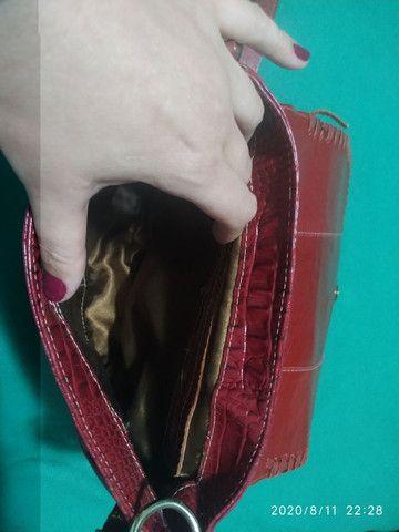 Bolsa em couro croco - Foto 5