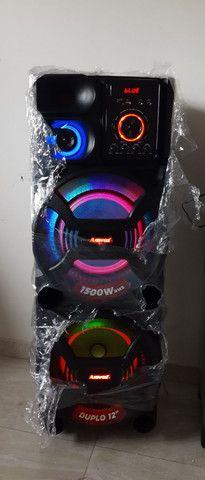 Caixa de som amvox portátil  1500 watts rms - Foto 2