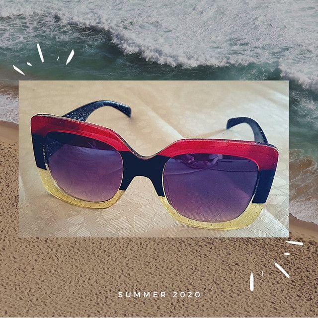 Óculos de sol feminino Nagata, multicolor glitter, Fashion Summer. - Foto 3