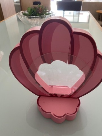 Enfeite de mesa- concha  (02 unidades rosas e 02 unidades lilás)
