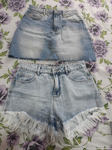 Saia e short jeans - Foto 2