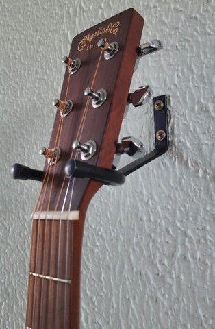 Suporte parede para violão, guitarra, baixo, cavaquinho e ukulele - Preto - Foto 4