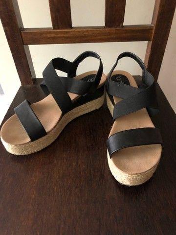 Sapato anabela beira rio 37 - Foto 3