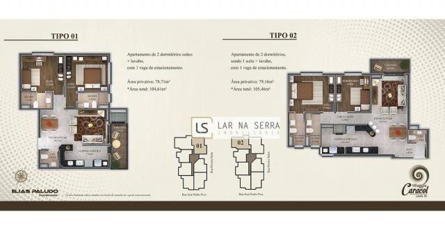 Apartamento com 2 dormitórios à venda, 105 m² por R$ 549.000,00 - Vila Suiça - Canela/RS - Foto 6