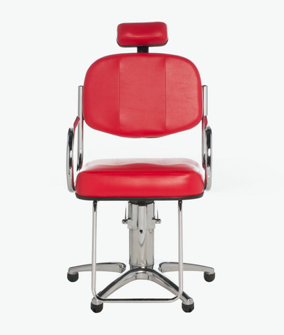 Cadeira Hidráulica Cromada Fixa ou Reclinável