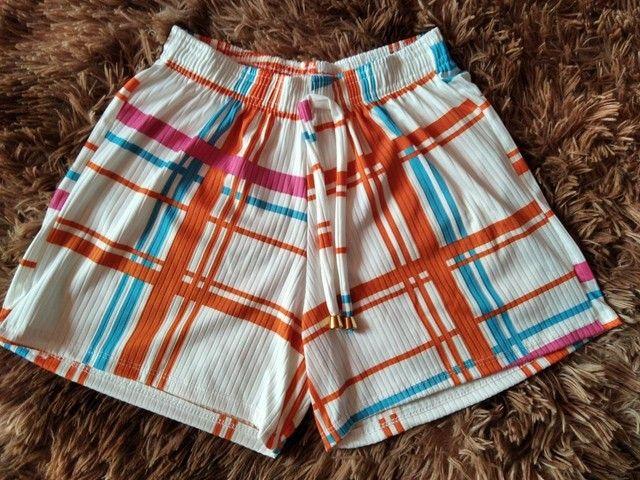 Shorts Canelados Adultos - Foto 2