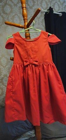 Vestido infantil vermelho - 6 anos
