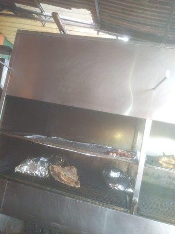 Vendo churrasqueira inox grande