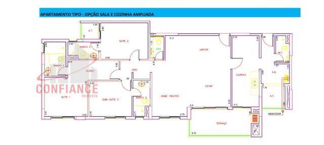 Althentic Recife 140m2, 4 dormitórios 3 vagas andar alto 900mil - Foto 16