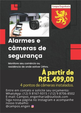 Câmeras de segurança/segurança eletrônica