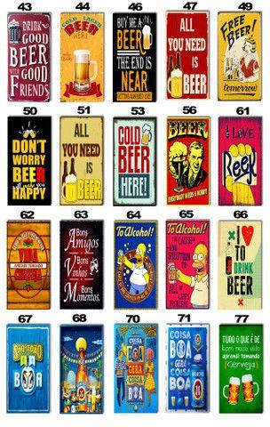 Placas Decorativas com Frases Divertidas de Bebida Kit com 7 placas - Foto 5