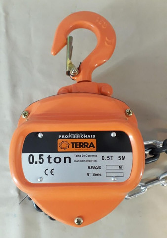 Talha Manual Terra 0,5 Toneladas - Com Corrente 5 Metros - Foto 5