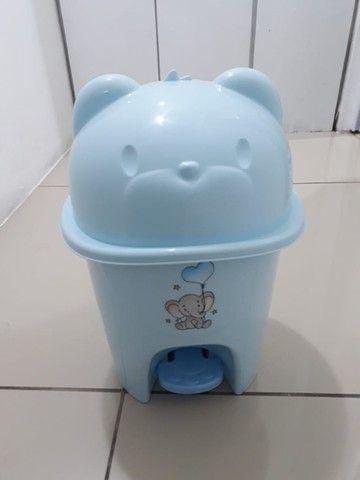 Lixeira ursinho azul bebê - Foto 2
