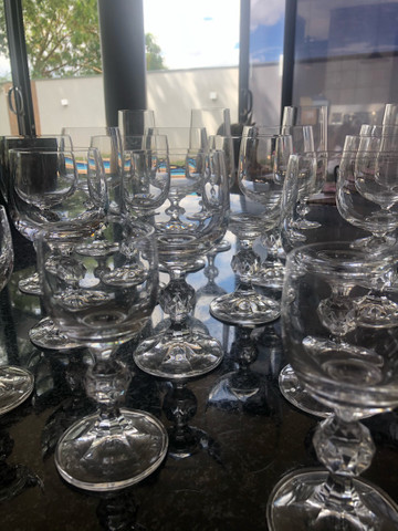 Jogo de 29 taças de cristal Bohemia Claudia - Foto 2