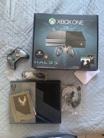 Xbox ONE 1TB Edição Halo 5 (COM NOTA FISCAL)