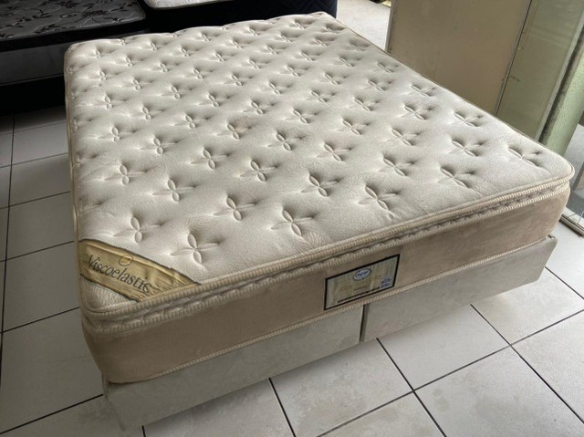cama box queen size - Viscoelastic - entrego - Foto 6