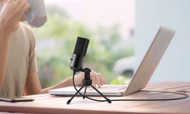 Microfone Condensador Fifine K669 USB - Youtube / Podcast / Estúdio / Gravação Vocal / Etc - Foto 3