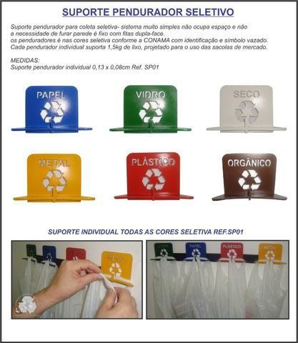 Suporte lixeira pendurador-Separação de lixo compacto - Foto 2