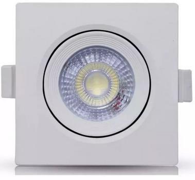 Spot Led 3w Quadrado Direcionavel Branco Frio ou Quente - Mega Iluminação