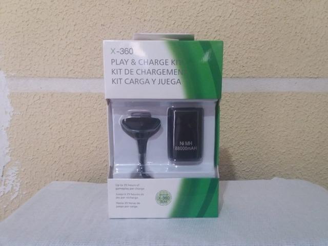 Bateria + cabo xbox 360