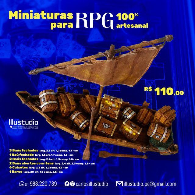 Miniaturas RPG 100% Artesanal - Madeira - Foto 6