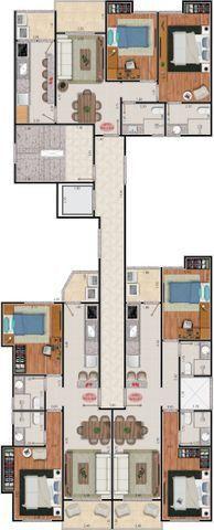 Apartamento de 2 Qtos varanda vaga e elevador em Bandeirantes - Foto 2