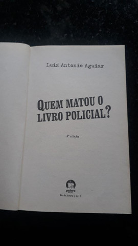 """20% OFF!! - Livro """"Quem matou o Livro Policial?"""" - 4º Edição - Foto 2"""
