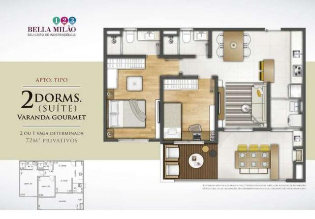 Bella Milão - Apartamento de 1 a 3 quartos em São Roque, SP - Foto 16