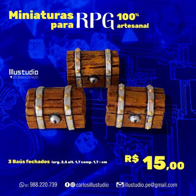 Miniaturas RPG 100% Artesanal - Madeira