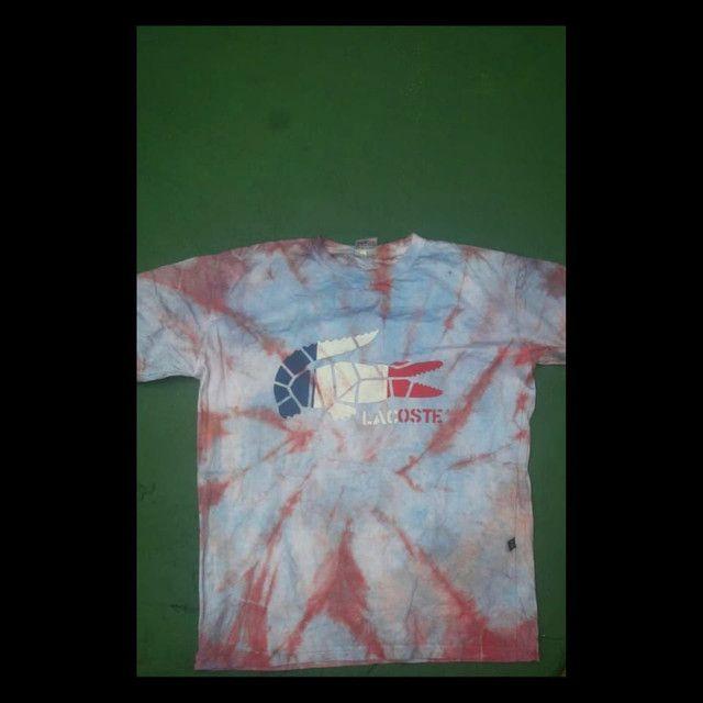 Camisa tie dye da Lacoste