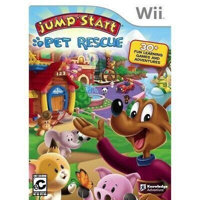 Jump Start Pet Rescue Nitendo Wii Original