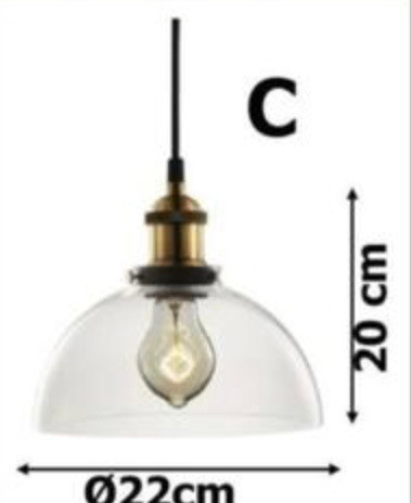 Pendente vintage/retrô com lâmpada de filamento - Foto 2