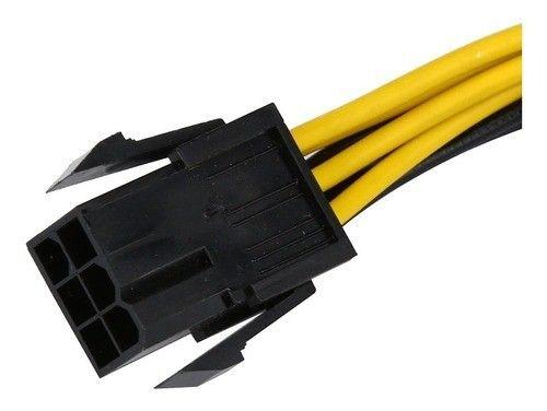 Adaptador Energia De 6 Pinos P 8 Pinos P Video Pci-e X16. - Foto 2