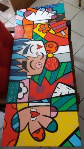Quadro pintura estilo pop arte - Foto 3