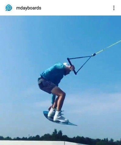Prancha wakeboard  nova  Mdayboards Cable park  150 cm  - Foto 3
