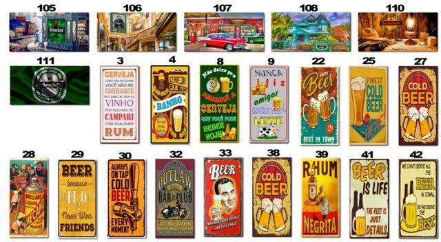 Placas Decorativas com Frases Divertidas de Bebida Kit com 7 placas - Foto 4