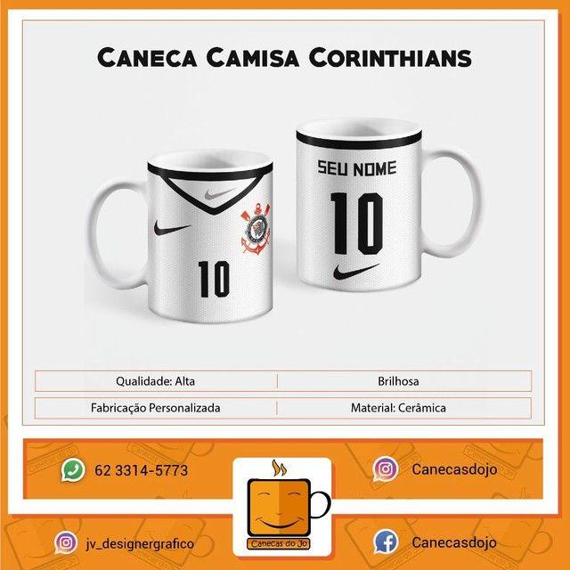 Caneca Personalizada Flamengo, São Paulo, Corinthians 325ML  - Foto 3