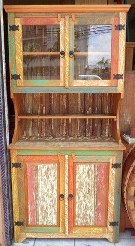 arca com oratória em madeira de demolição ótimo acabamento. - Foto 5