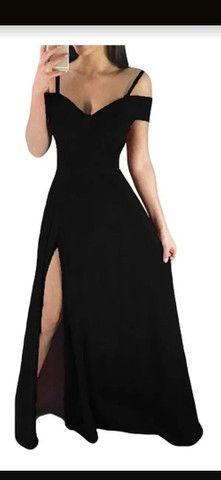 Vestido preto longo