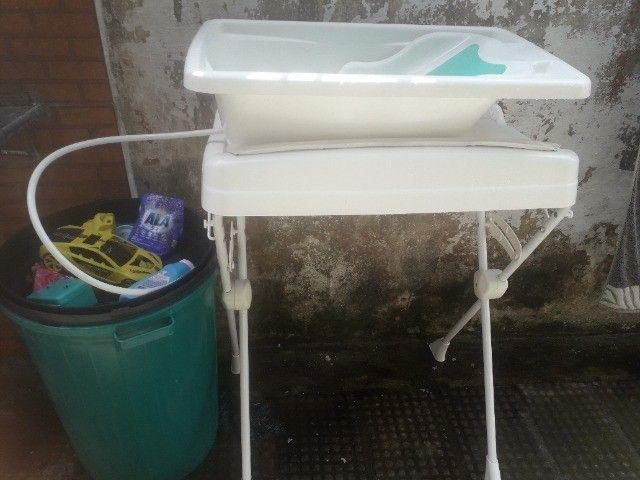 Banheira com trocador e suporte  - Foto 2